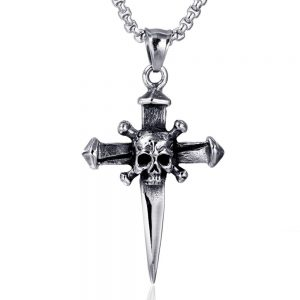 necklace head of dead cross sword at sell