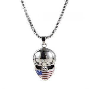 necklace head of dead flag usa at sell