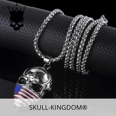 necklace head of dead flag usa price