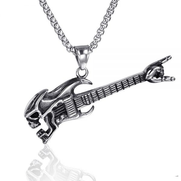 necklace head of dead guitar metal not dear