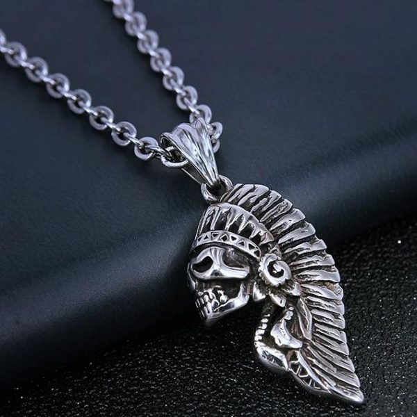 Indian skull necklace