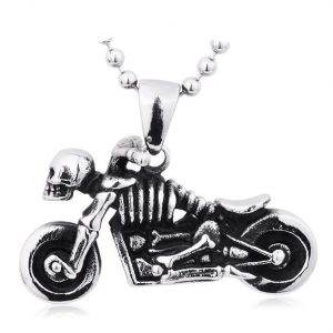 necklace head of dead motorbike skull necklace head of death