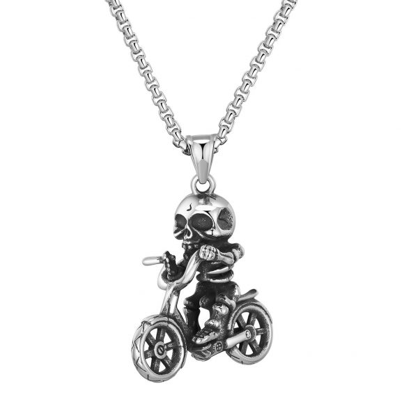 necklace head of dead skull bike at sell