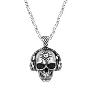 necklace head of dead skull dj price