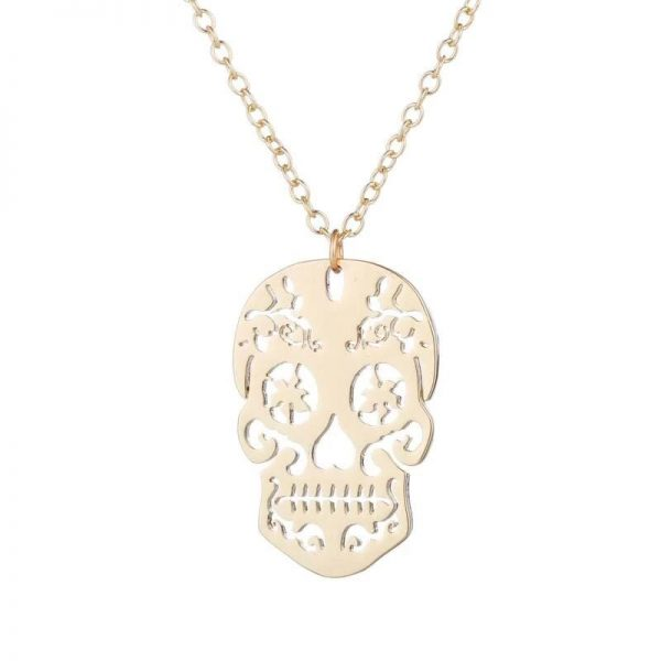 necklace head of dead skull mexican 3 colors gold pink price