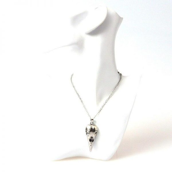 necklace head of dead skull of raven money at sell
