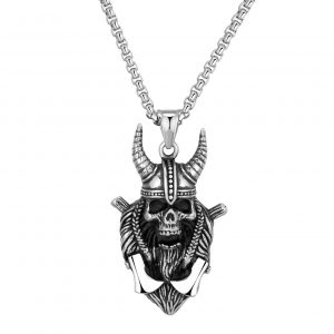 necklace head of dead skull viking not dear