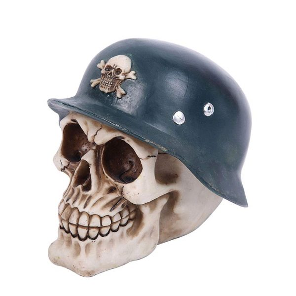 piggy bank head of dead skull smiling buy