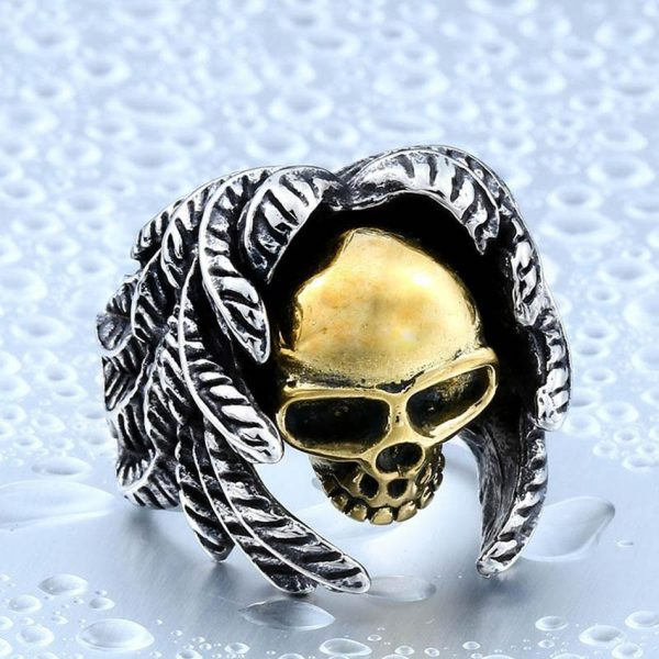 ring head of dead angel and devil steel 70 ring head of death