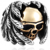 ring head of dead angel and devil steel 70 skull kingdom