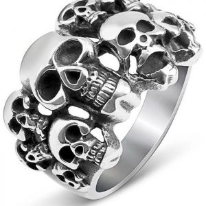 ring head of dead army gothic money 70 ring head of death