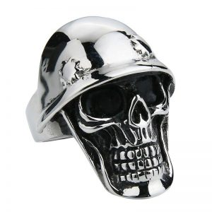 ring head of dead army skull steel 72 black price