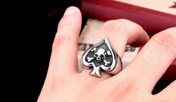 ring head of dead as of spades steel 70