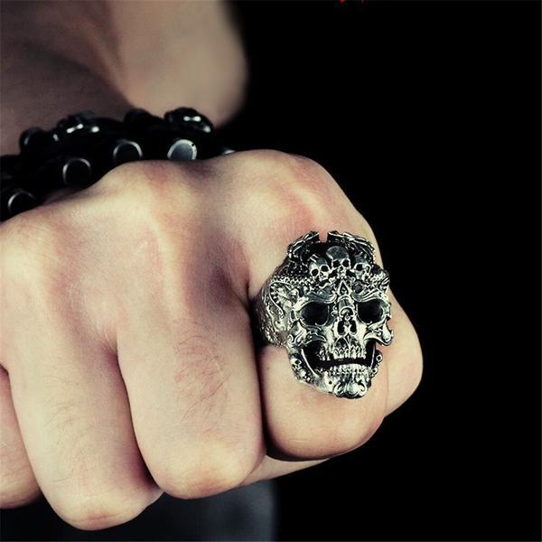 ring head of dead biker damn steel 70 or ring head of death