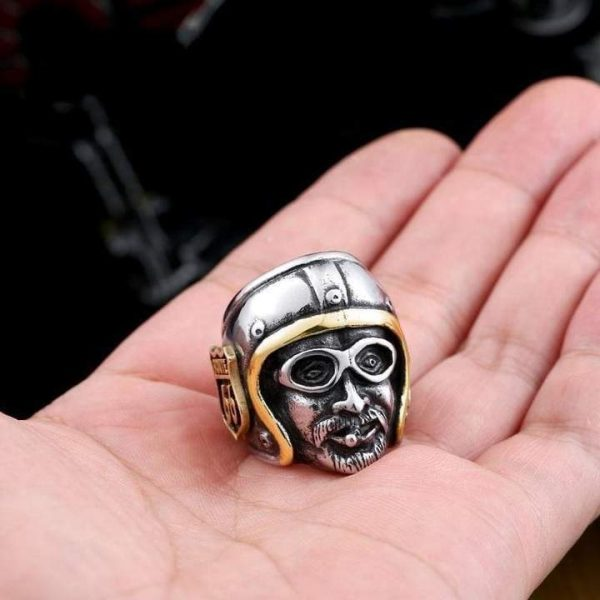 ring head of dead biker road 66 15 75 mm at sell