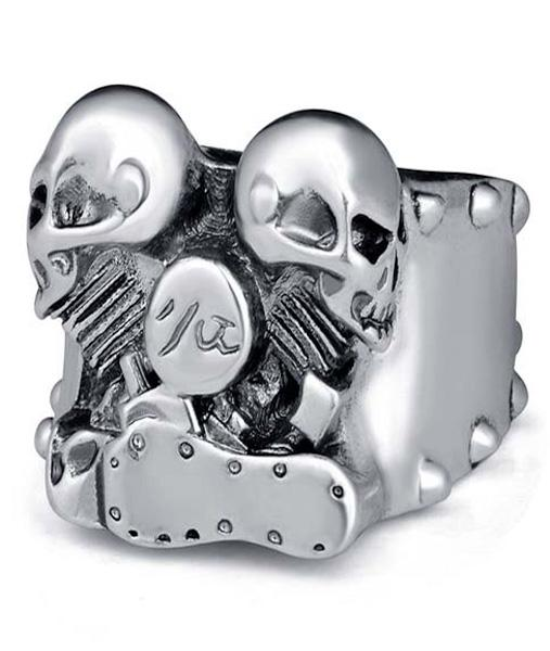 ring head of dead biker twin cylinder steel cut unique adjustable price