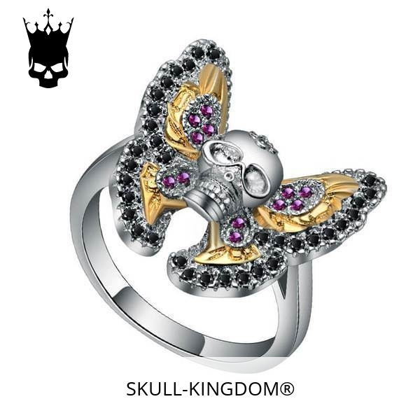ring head of dead butterfly gothic 12.67.5mm price