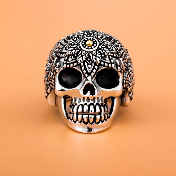 ring head of dead calavera mexico money 70 ring head of death