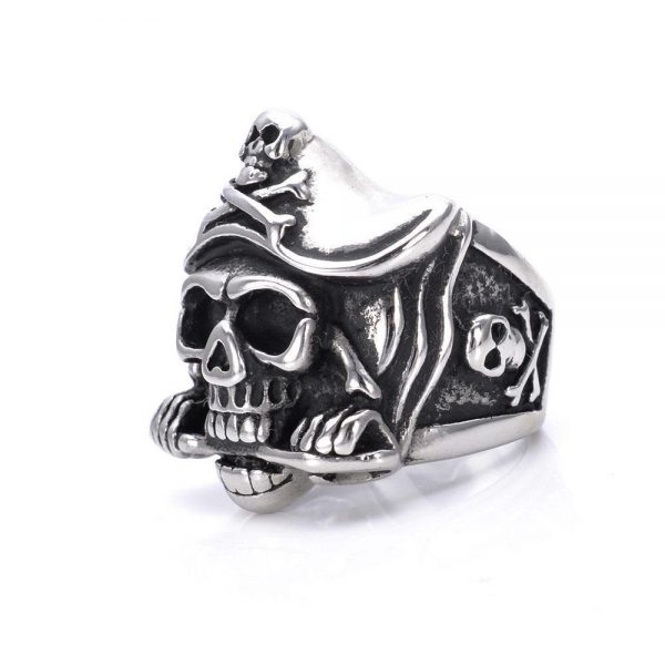 ring head of dead captain of caribbean steel 75 buy