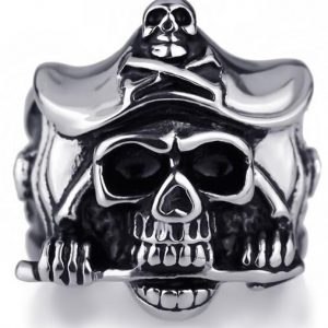 ring head of dead captain of caribbean steel 75 ring head of death
