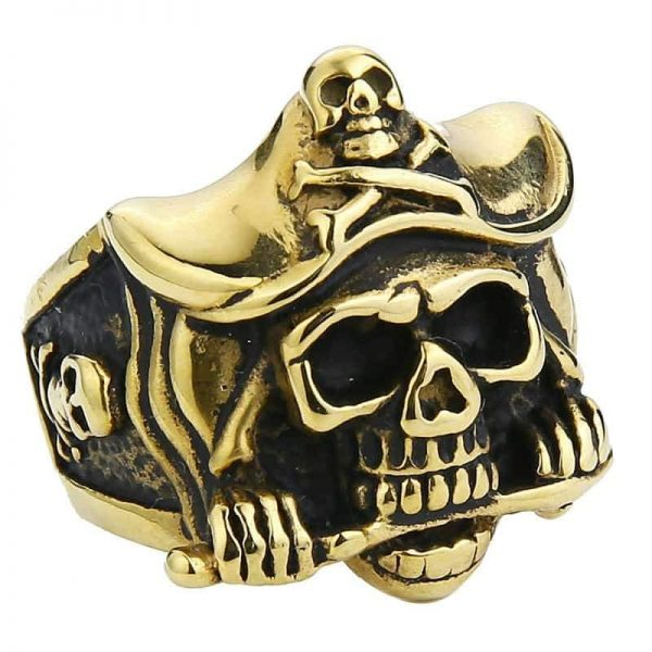 ring head of dead captain pirate 15 75 mm gold at sell