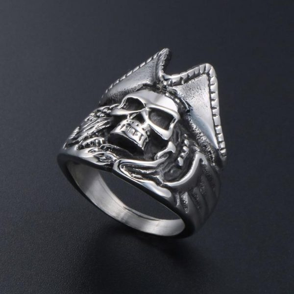 ring head of dead captain pirate steel 67 ring head of death