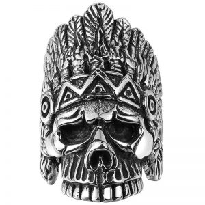 ring head of dead chief indian 15 75 mm skull kingdom