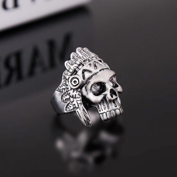 ring head of dead chief indian steel 62