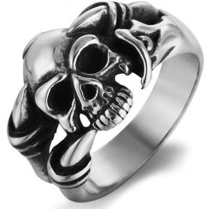 ring head of dead claws of reptile steel 70 skull kingdom
