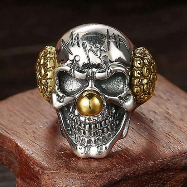 ring head of dead clown laughing steel 72 ring head of death