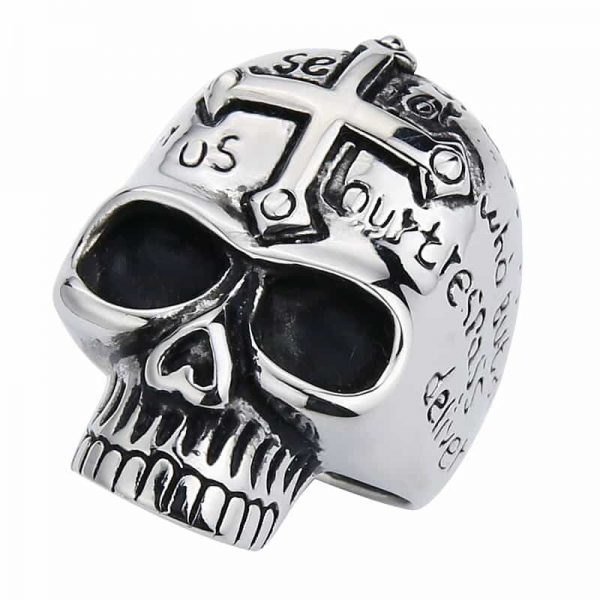 ring head of dead cross christian 3 colors 14 72mm black price