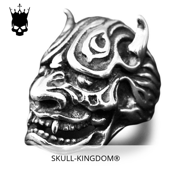 ring head of dead devil japanese oni 15 75 mm at sell