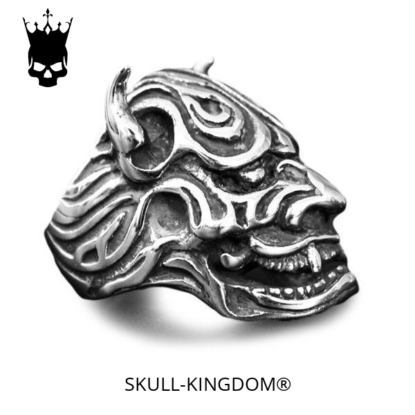 ring head of dead devil japanese oni 15 75 mm price