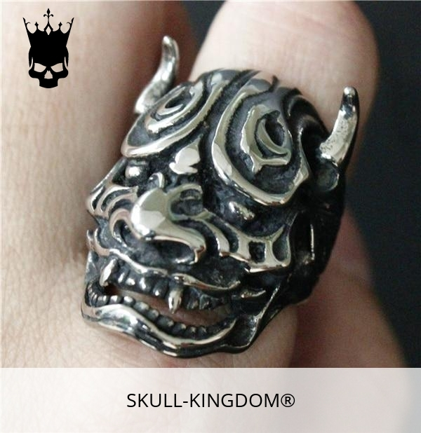 ring head of dead devil japanese oni 15 75 mm skull kingdom