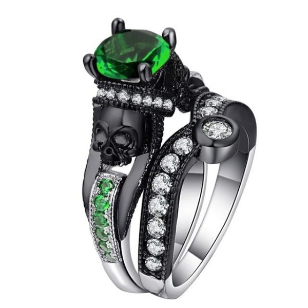 ring head of dead duo chic steel 67 green price