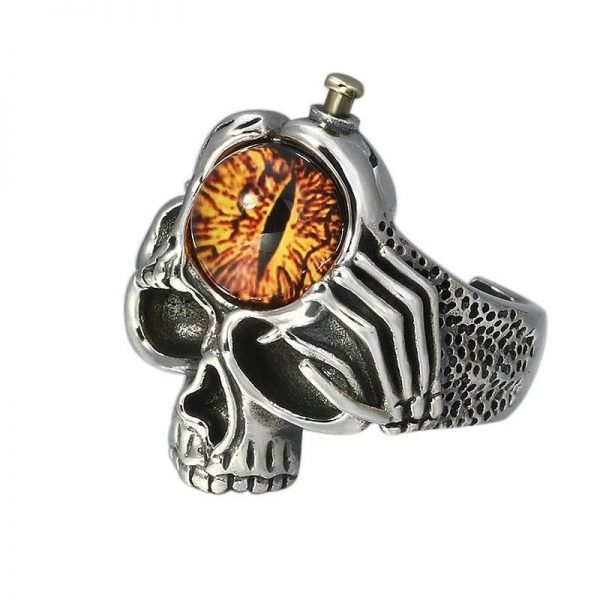ring head of dead eye gothic money cut unique adjustable skull kingdom