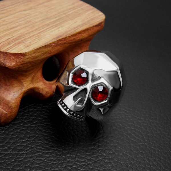 ring head of dead facets deadly steel 67 ring head of death