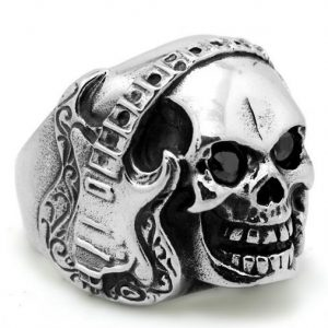 ring head of dead guitar rock steel 72 skull kingdom