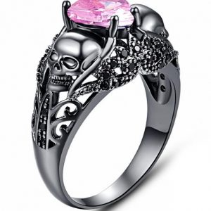 ring head of dead heart pink steel 60 multicolored at sell