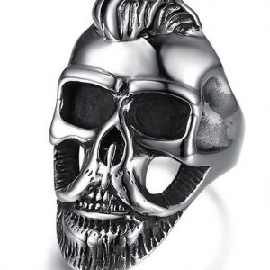 ring head of dead hipster bearded steel 70 ring head of death
