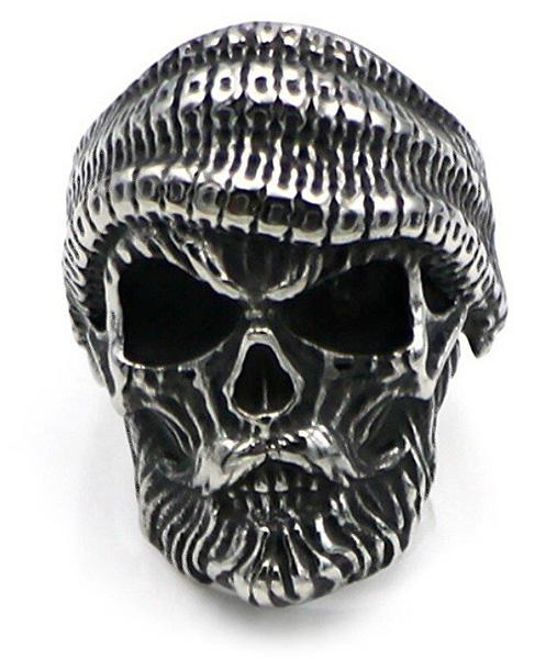 ring head of dead hipster mustache steel 72 ring head of death