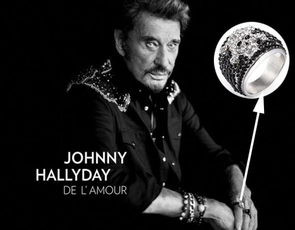 ring head of dead johnny hallyday never only 13 69mm not dear