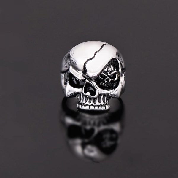 ring head of dead look mortal steel cut unique adjustable not dear