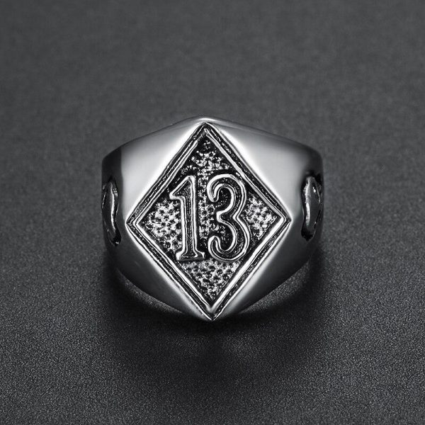 ring head of dead lucky 13 silver 15 75 mm buy