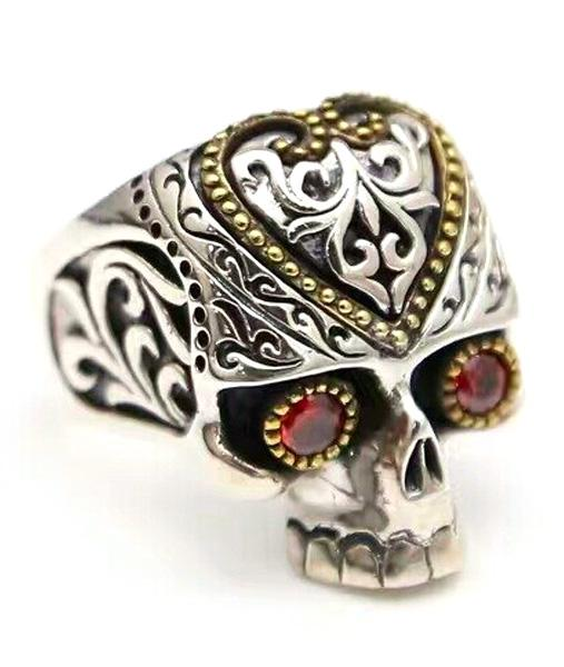 ring head of dead mayans steel 72 ring head of death