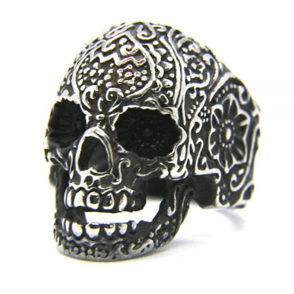 ring head of dead mexico 13 69mm golden