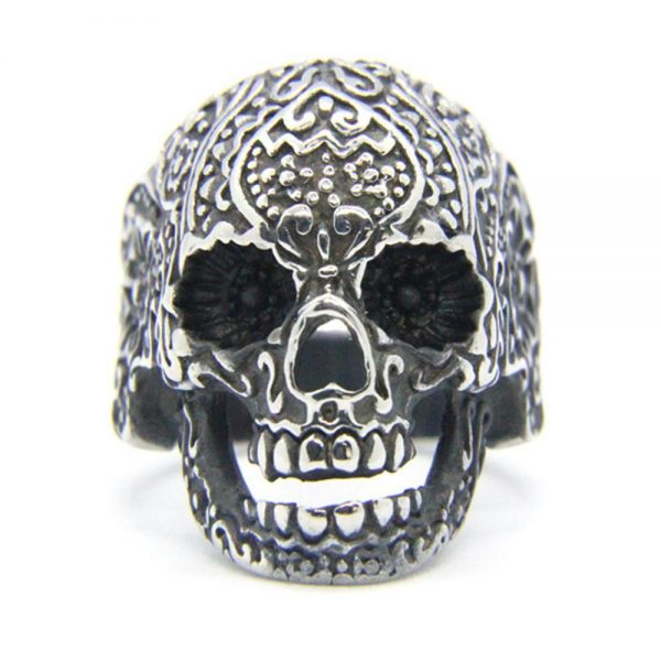 ring head of dead mexico 13 69mm golden at sell
