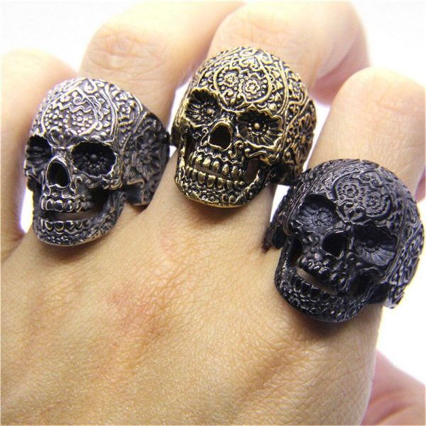 ring head of dead mexico 13 69mm golden price