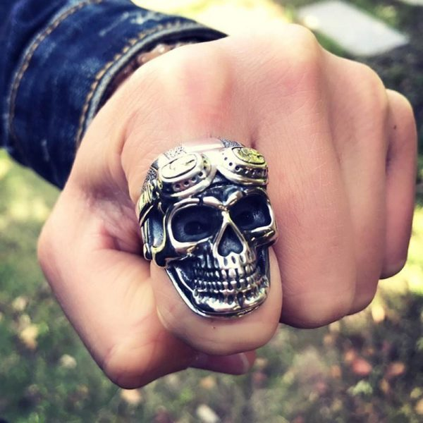 ring head of dead military aviator money ring head of death