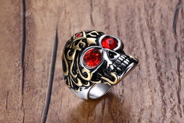 ring head of dead ornaments holy steel 67 ring head of death